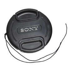 82 mm Snap On Front Lens Cap Cover Center Pinch with String for Sony EOS Camera