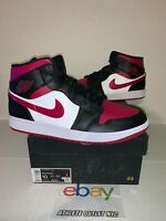 New Nike Air Jordan Retro 1 Mid Bred Toe Mens Size 10 Basketball Shoe 554724-066