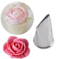 1PC Tulip Icing Piping Flower Nozzle Cupcake Decor Rose Pastry Tips Tools Mold