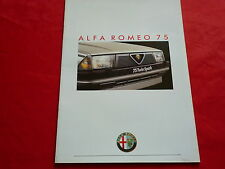 Alfa Romeo 75 1.8 Twin Spark 2.0 v6 2.5 1.8 turbo folleto de 1988