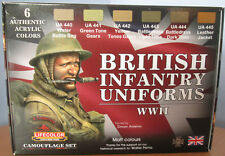 Lifecolor Acrylics LC-CS41 WW2 British Infantry Uniforms Paint Set