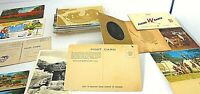 POST CARD LOT PHOTO TIN TYPE FOLD OUT 81-CARDS VICTORIAN TO 1950 USA BIG MIX