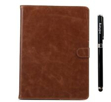 iPad Air 2 Case, inShang [Book Style][Folio][Smart Case] Crazy Horse PU Leather