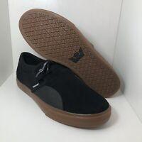 Supra Skateboarding Shoes Low Black 08106-036 Mens Size 10.5