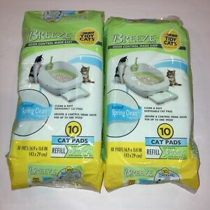 Purina Tidy Cats Breeze Spring Clean Pads Refill Pack 10 Count, 20 Total 2 Bags
