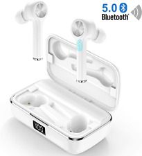Wireless Sports Earphones Bluetooth Headphones In Ear Crystal CVC8.0 Noise True