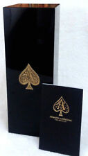 Wine Box Armand de Brignac (Ace of Spades) Gold Logo Champagne Black Lacquered