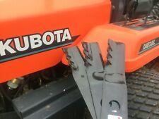 "Set/3 60"" Gator mower blades Kubota B7400, B7410, B7500, B7510, B7610 tractors"