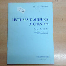 partition méthode O Gartenlaub Lecture d'auteurs a chanter pour Flute & accompag