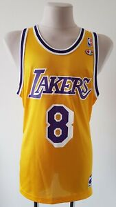 NBA Los Angeles Lakers Basketball Champion vintage Jersey #8 Bryant size 44