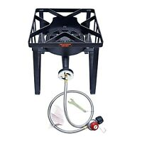 200,000BTU Outdoor Camping High Pressure Burner Stove Propane Gas Cooker w/Stand