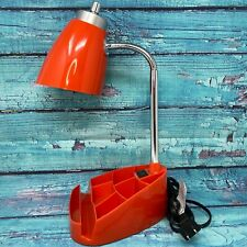 Limelights Gooseneck Organizer Desk Lamp w/ Tablet Holder & Red New