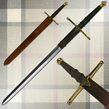 "40"" Scottish William Wallace Claymore Broadsword Sword & Leather Sheath"
