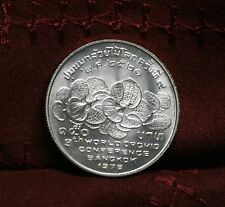 1978 Thailand 150 Baht Silver World Coin 9th World Orchid Conference Thai 2521 c