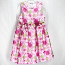 Marmellata Classics Dress Sz 6X Pink Green White Dots Sleeveless Spring Party