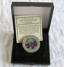 1997 Hong Kong vuelva a China Color prueba dólar comercial en Caja/cert. de autenticidad
