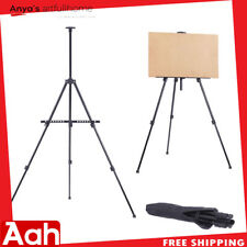 Folding Artist Iron Easel Drawing/Sketching/ Painting LightWeight with Carry Bag