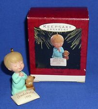 Hallmark Christmas Ornament Godchild 1993 Teddy Bear & Child Bedtime Prayers NIB
