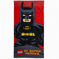 LEGO DC SUPER HEROES BATMAN LARGE BEACH BATH TOWEL KIDS CHILDREN SWIMMING RED