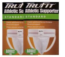 Jockstrap 2 pairs TRU-FIT- Athletic-Supporter-Under BOXER-BRIEF-ADULT-MED-32-38