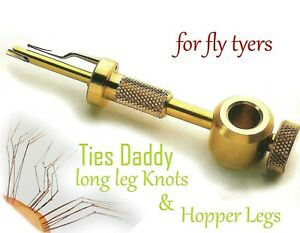 THE DADDY KNOT TYER, Tie Pheasant Tale Fibers. Daddy long leg Fly Tying