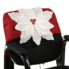 6pcs Christmas Party Dining Chair Seat Protector Cover Sofa Furniture Decor Red