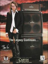 Steve Vai Carvin Legacy Guitar Amps 2007 advertisement 8 x 11 ad print