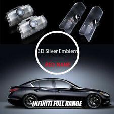 2x 3D Logo Badge Emblem Courtesy Shadow Door Step Light for INFINITI 04-18 SHORT