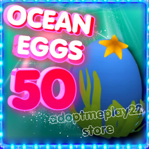 Ocean Egg x50 Roblox Adopt Me 🐬🐬💙 new ocean  eggs !