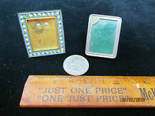 Vintage Miniature Lot of 1 Micro Mosaic Frame and 1 Sterling Frame OOAK Pieces