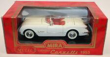 Mira escala 1/18 De Metal Coche Modelo 9101 - 1953 Chevrolet Corvette-Blanco