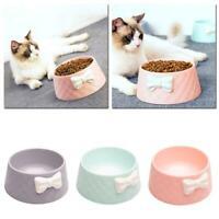 Bow Style Pet Dog Cat Bowl Feeding Drinking Plastic Dish Feeder Tool