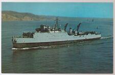 USS Oak Hill LSD-7 postcard US Navy warship dock landing ship (card1)