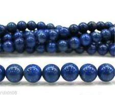 "NEW 4mm Blue Egyptian Lazuli Lapis Gemstone Loose Beads 15"" AAA"