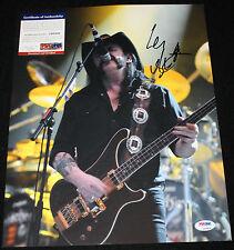Lemmy Kilmister signed 11 x 14, Motorhead, Overkill, Ace of Spades, PSA/DNA