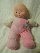 "11"" Baby Girl Doll Pink Bean Toddler Baby Plush Soft Toy Stuffed Animal"