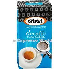 BRISTOT DECAF ESPRESSO COFFEE PODS E.S.E. SYSTEM 18 PIECES