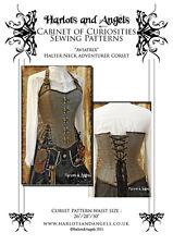 Steampunk neo Victorian  'Aviatrix' Halter neck corset Paper sewing pattern. MED