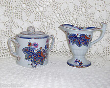 Copeland Spode - New Stone - Tobacco Leaf Creamer & Sugar Bowl with lid - W50