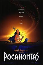 "Walt Disney's POCAHONTAS 1995 Original DS 2 Sided 27x40"" Movie Poster"