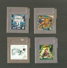 GAME BOY / 4 SPIELE - SPIROU / DOUBLE DRAGON 2 / SUPER HUNCHBACK / EXTRA