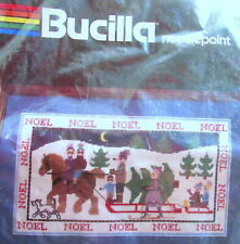"Bucilla Needlepoint Kit ""Noel Scene"" #60664, 9"" x 16"" Package Open"
