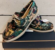 Ladies Sebago Liberty Garden Print 2 Eye Textile Deck Shoes