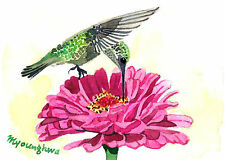 ACEO Limited Edition -A silent moment, Gift idea for bird lovers