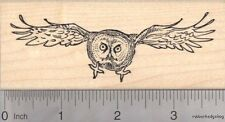 Great Gray Owl Rubber Stamp, In Flight J17602 WM