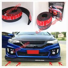 8.1FT FRONT BUMPER BK SOFT LIP SPLITTER BODY SPOILER VALENCE CHIN SIDE SKIRT