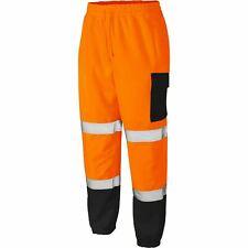 Mens Hi Vis Combat Trousers Jogging Bottoms Workwear Safety Contrast Joggers