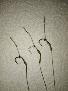 3 blow back hair rigs tied with Korda n trap semi stiff size 6 micro barbed