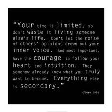 New Time Quote by Steve Jobs Fine Art Print Home Wall Decor Inspirational 698824