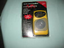 CLEAR PATH AM/FM PORTABLE POCKET RADIO YELLOW VINTAGE 2 BAND-SEALED